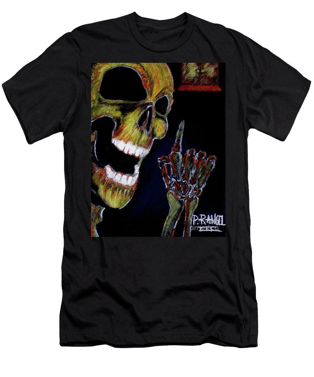 Pastels Men's T-Shirt (Athletic Fit) featuring the pastel Door To Deception by Phillip Rangel