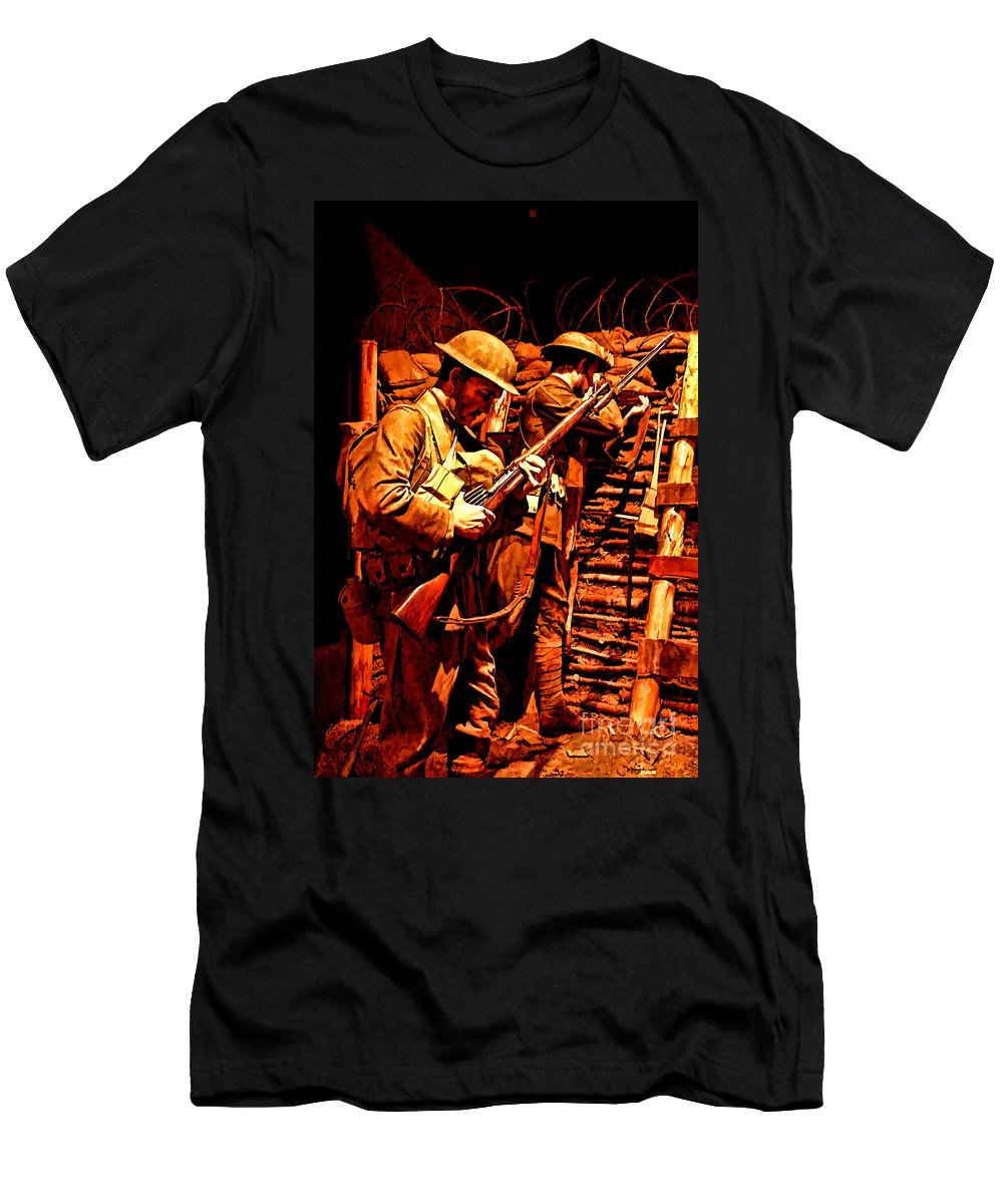 Us Army Men's T-Shirt (Athletic Fit) featuring the photograph Doughboys by Tommy Anderson