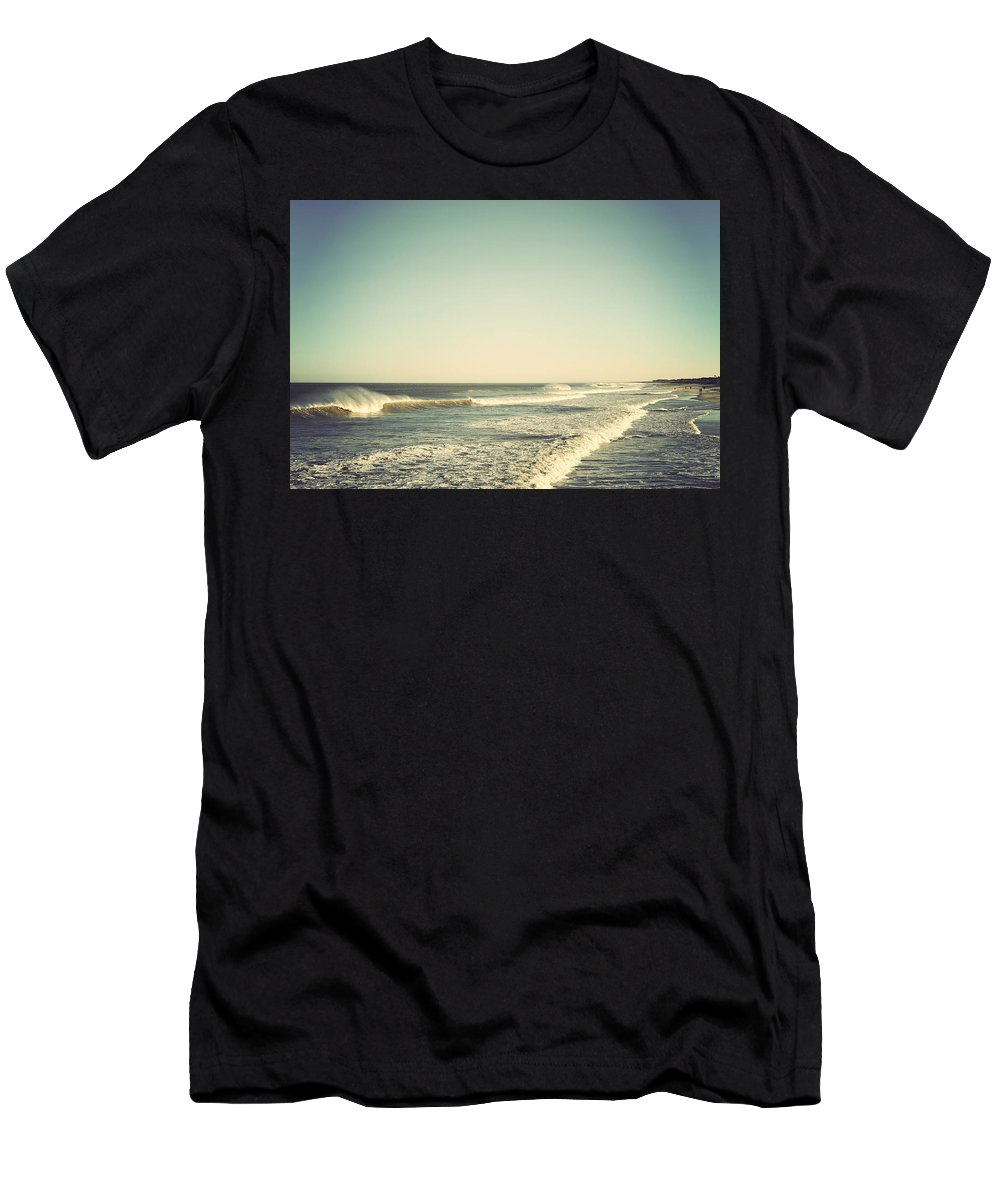 Terry Deluco Men's T-Shirt (Athletic Fit) featuring the photograph Down The Shore - Seaside Heights Jersey Shore Vintage by Terry DeLuco