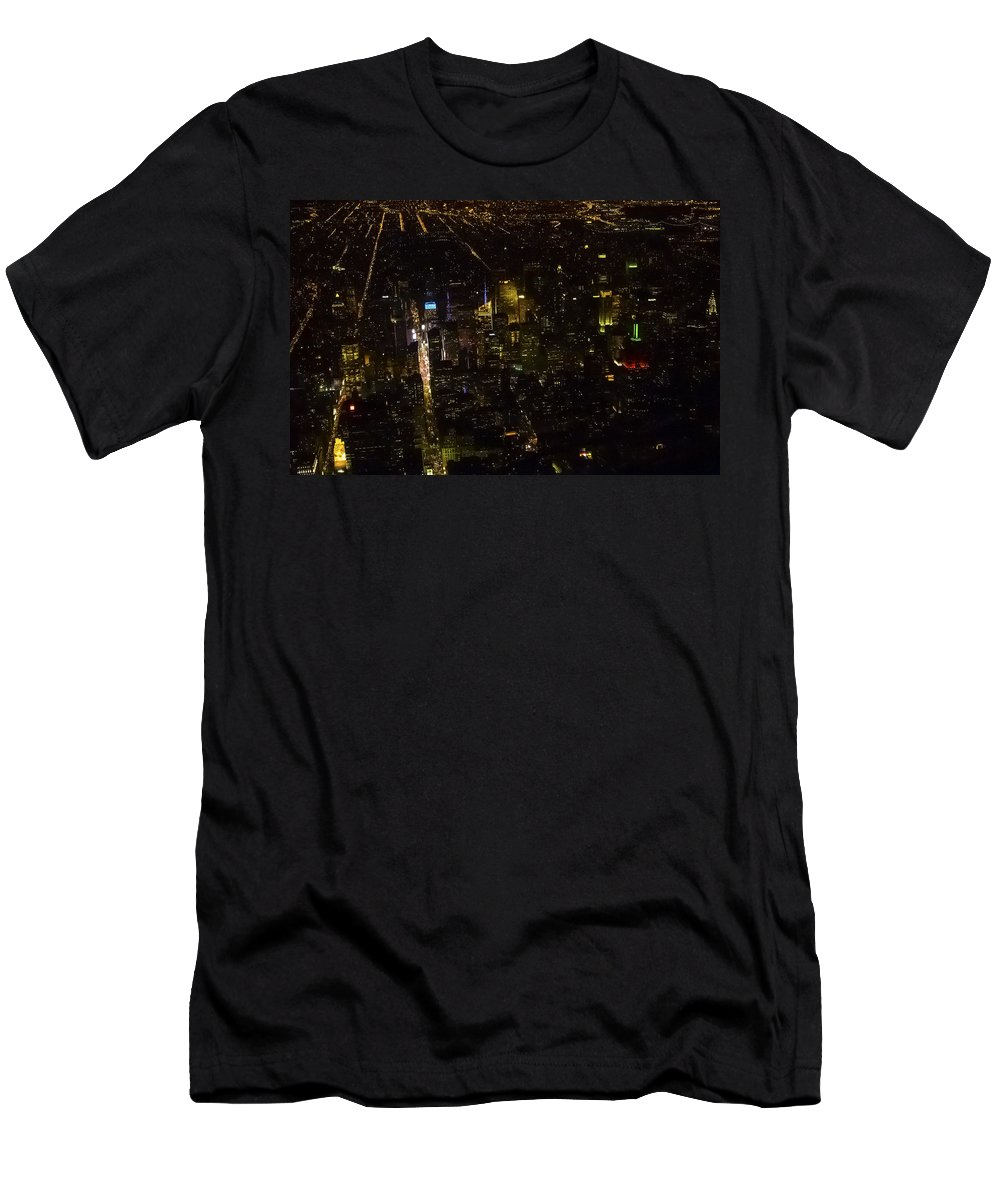 Downtown Men's T-Shirt (Athletic Fit) featuring the photograph Downtown by Greg Reed