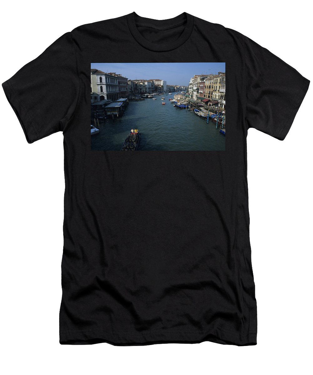 2000 Men's T-Shirt (Athletic Fit) featuring the photograph Downtown Venice by Susan Rovira