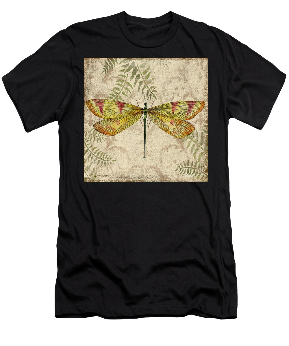 Painting Men's T-Shirt (Athletic Fit) featuring the painting Dragonfly Daydreams-a by Jean Plout