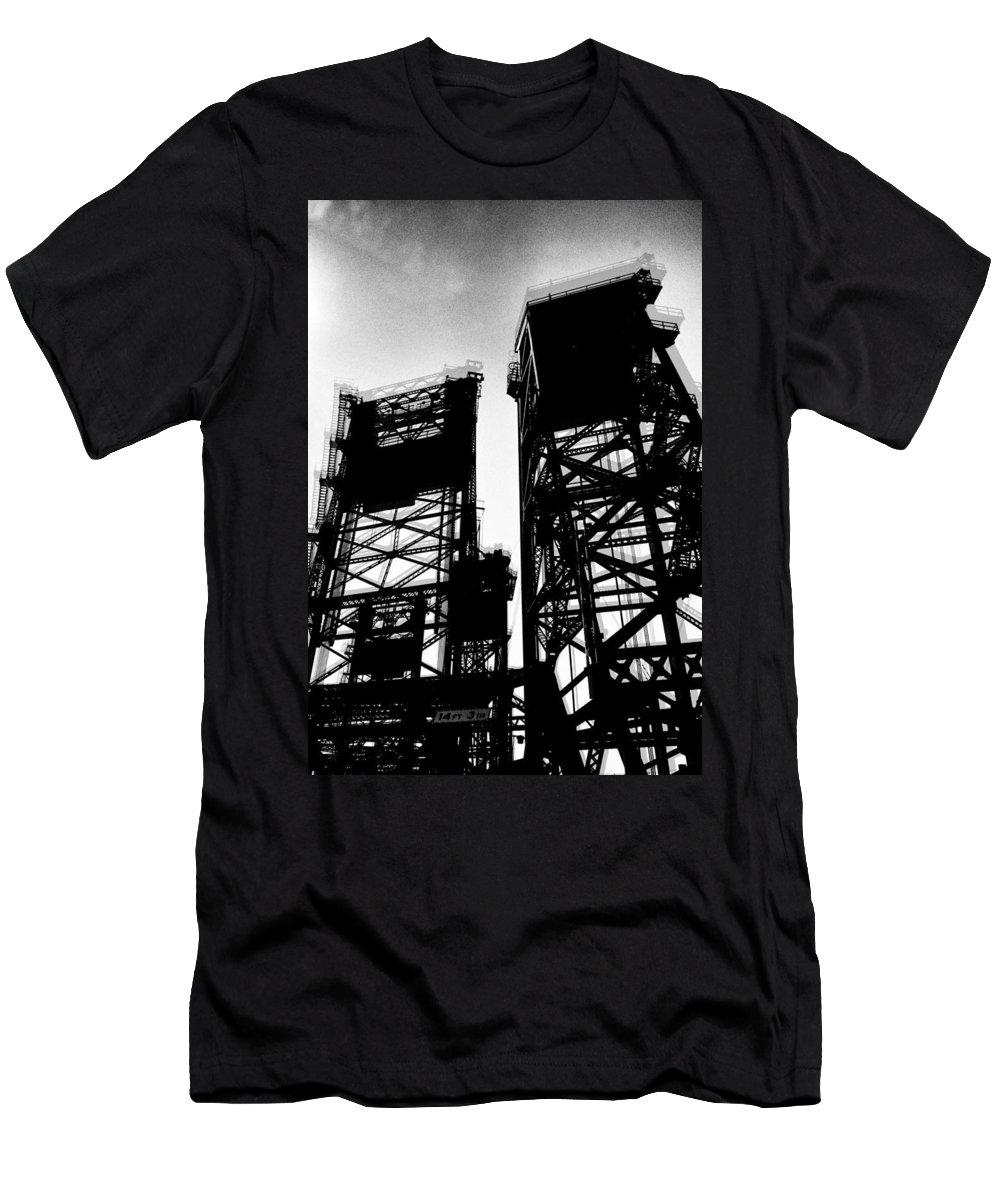 Towers Men's T-Shirt (Athletic Fit) featuring the photograph Drawbridge by H James Hoff