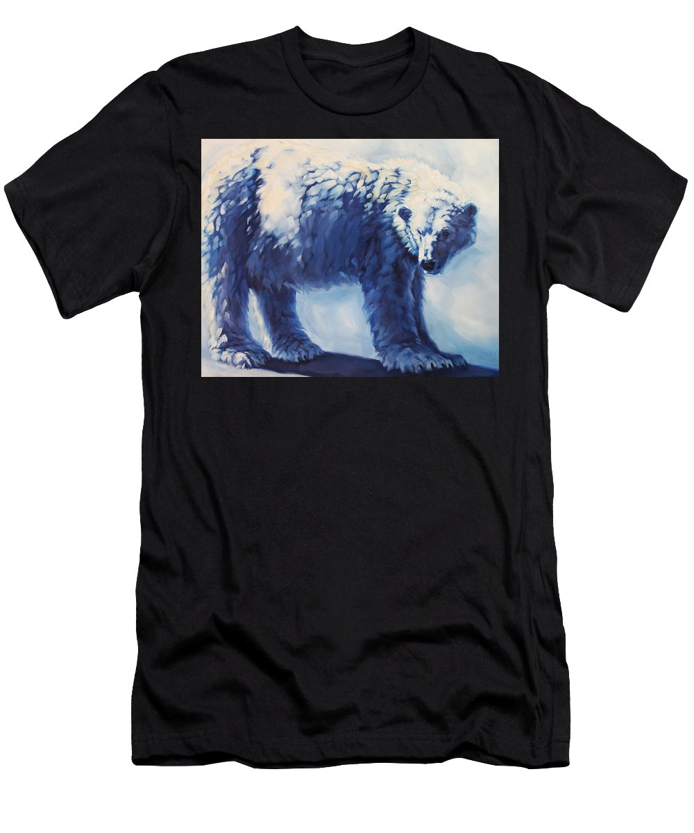 Animals Men's T-Shirt (Athletic Fit) featuring the painting Dream Bear by Carrie Cook