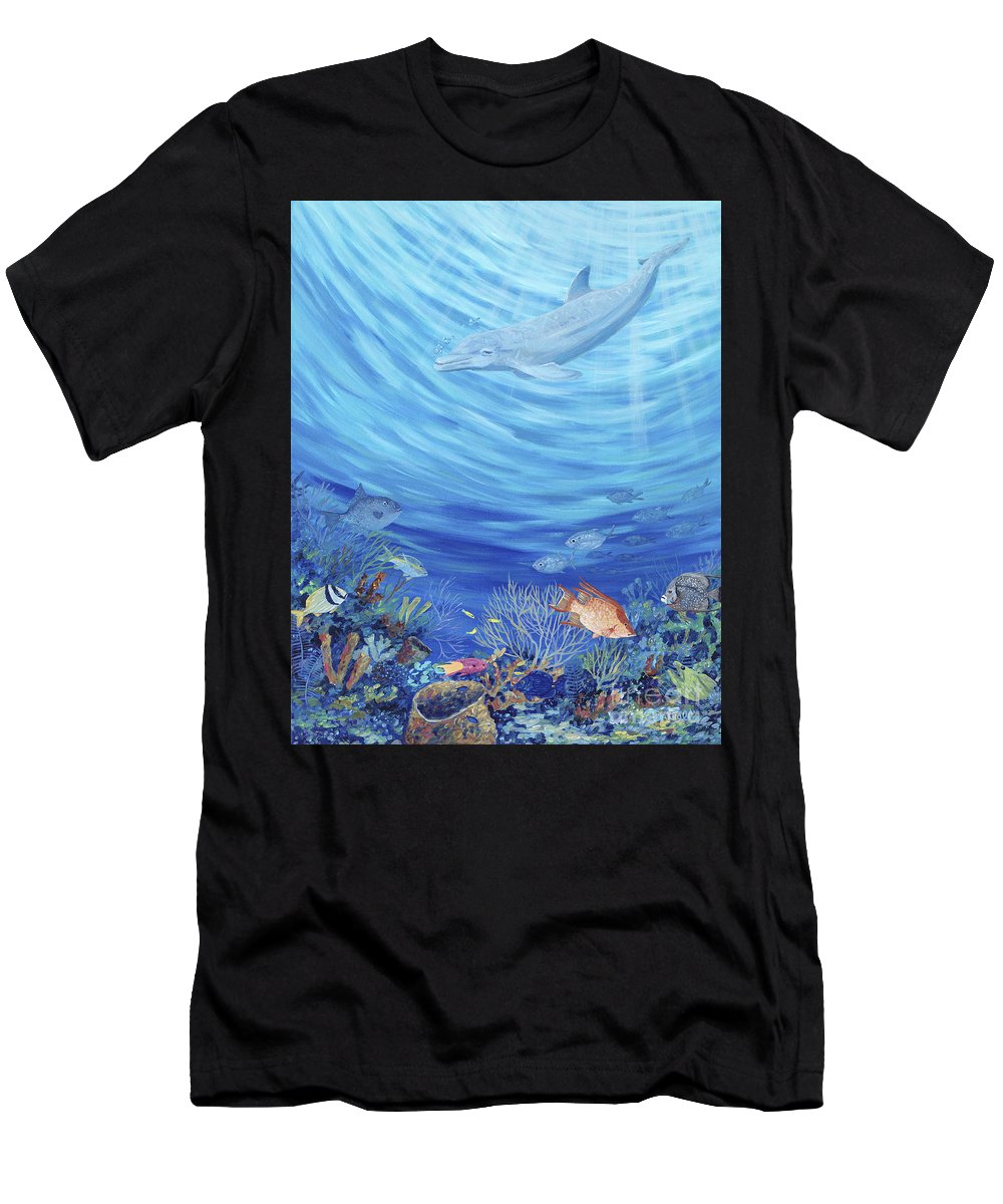 Florida Men's T-Shirt (Athletic Fit) featuring the painting Dream Reef by Danielle Perry