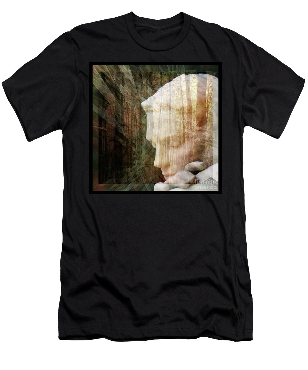 Of Lucid Dreams / Dreamscape 2 Men's T-Shirt (Athletic Fit) featuring the digital art Of Lucid Dreams / Dreamscape 2 by Elizabeth McTaggart