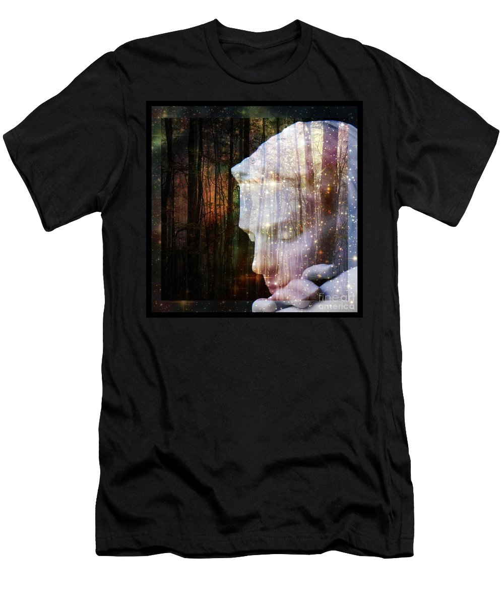 Of Lucid Dreams / Dreamscape 4 Men's T-Shirt (Athletic Fit) featuring the digital art Of Lucid Dreams / Dreamscape 4 by Elizabeth McTaggart