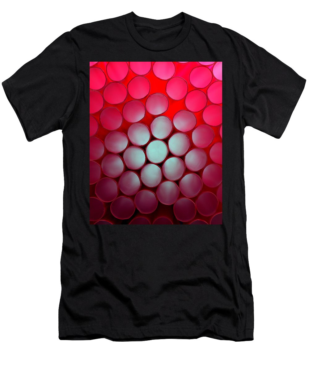 Color Men's T-Shirt (Athletic Fit) featuring the photograph Drinking Straws by Yo Pedro