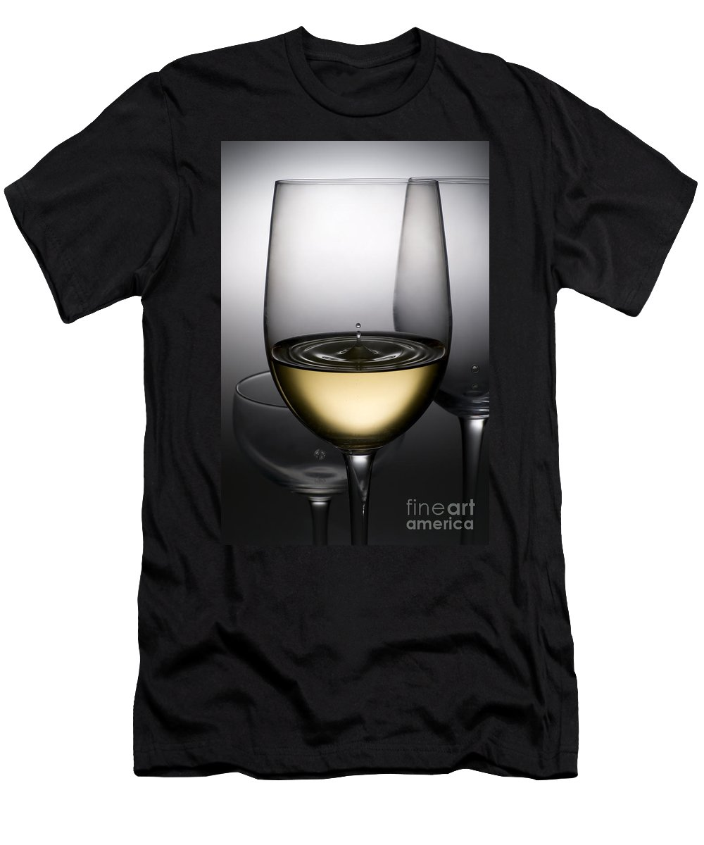 Abstract Men's T-Shirt (Athletic Fit) featuring the photograph Drops Of Wine In Wine Glasses by Setsiri Silapasuwanchai