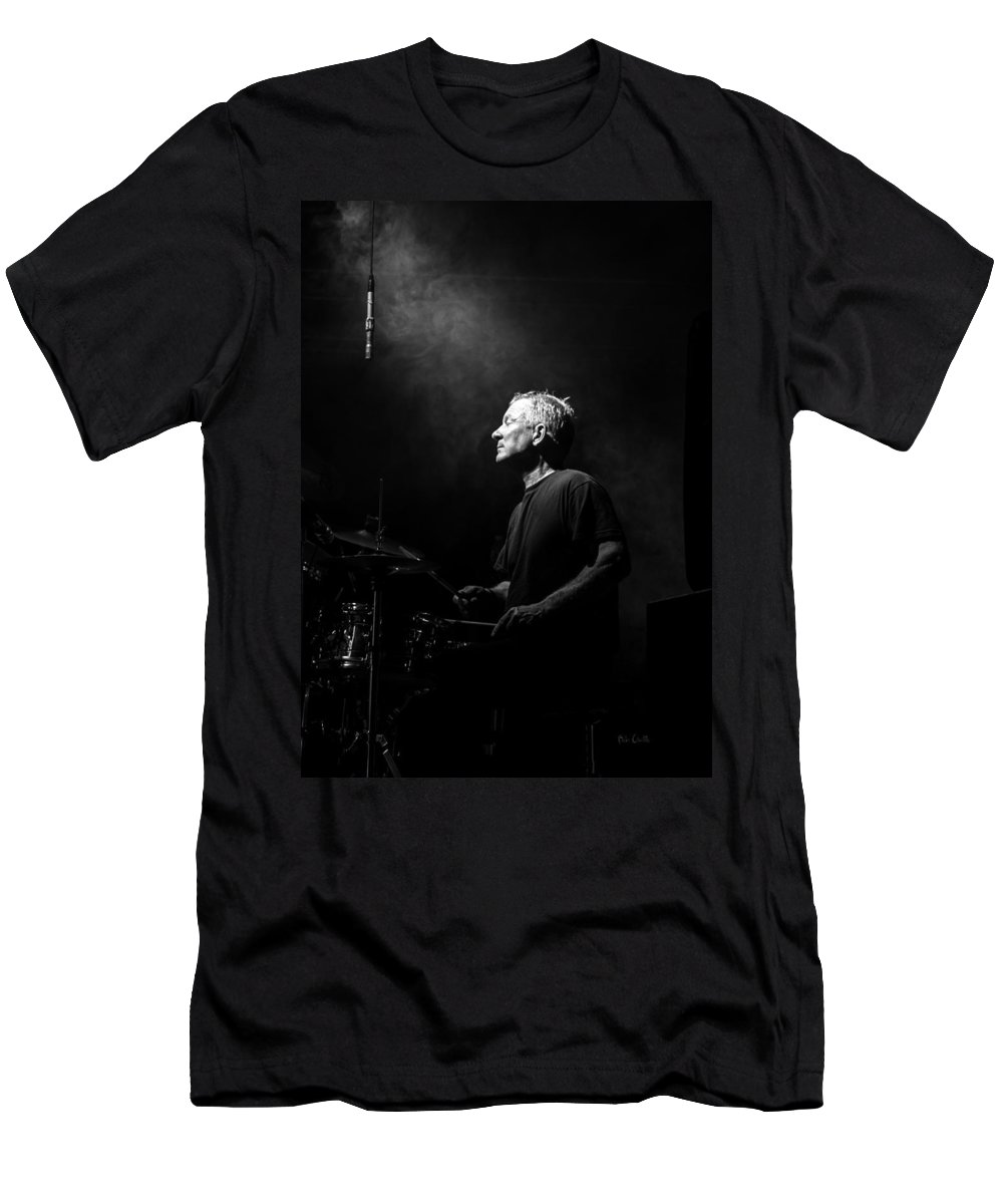 Drummer T-Shirt featuring the photograph Drummer Portrait of a Muscian by Bob Orsillo