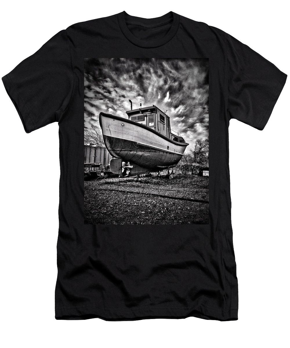 Antique Men's T-Shirt (Athletic Fit) featuring the photograph Dry Dock by H James Hoff