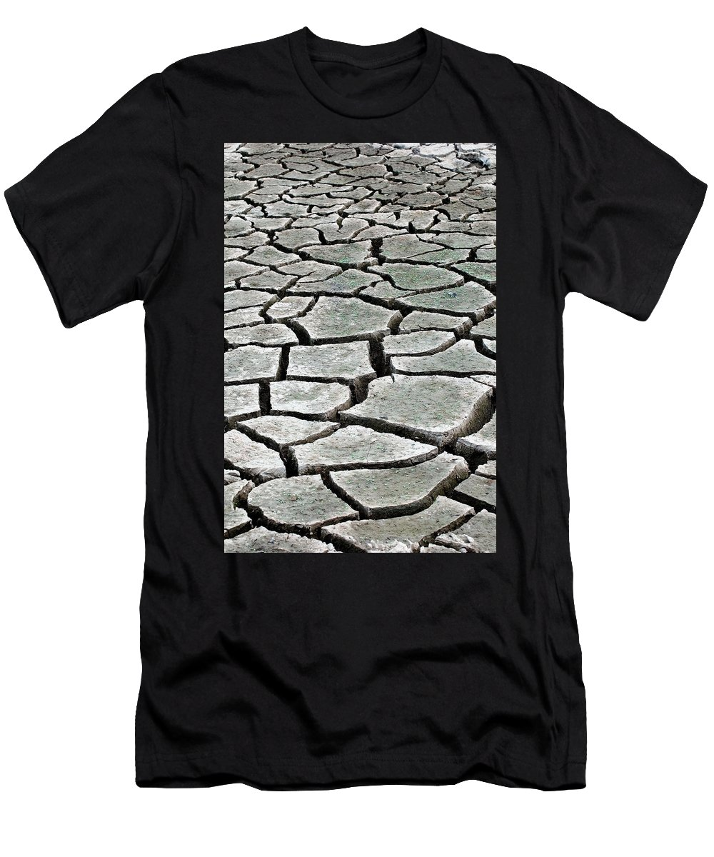 Nature Men's T-Shirt (Athletic Fit) featuring the photograph Dry Lake Bed by Teri Schuster