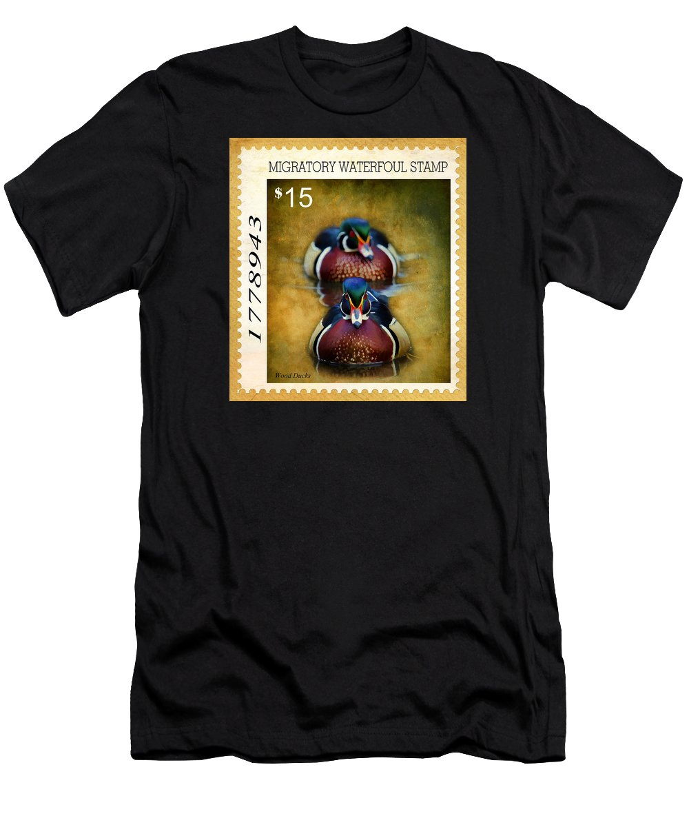 Drakes Men's T-Shirt (Athletic Fit) featuring the photograph Duck Stamp Art by Steve McKinzie