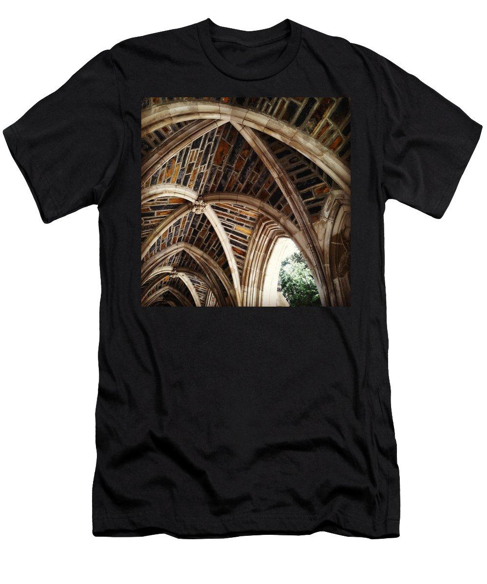 Arches Men's T-Shirt (Athletic Fit) featuring the photograph Duke Arches by Jana Nyberg