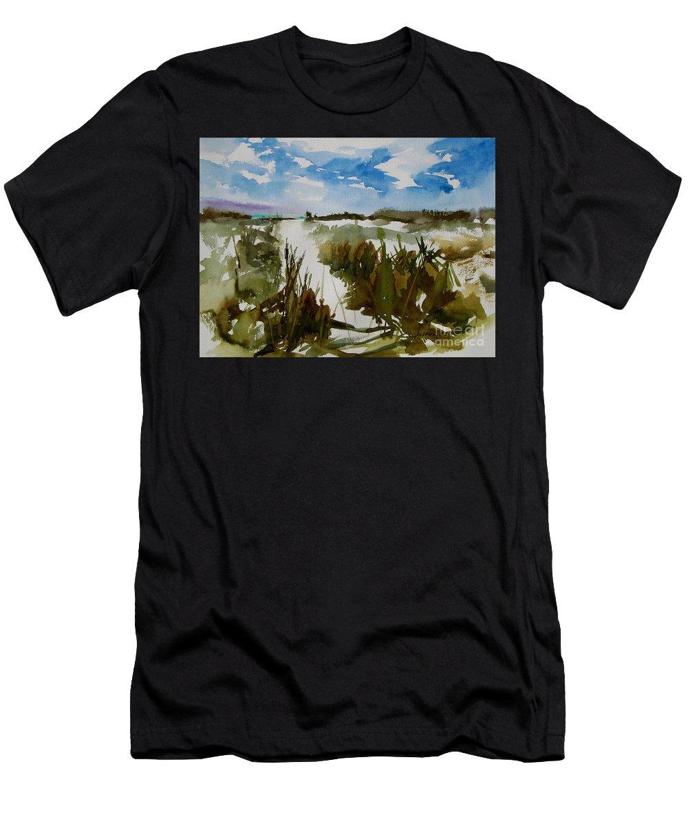 Art Men's T-Shirt (Athletic Fit) featuring the painting Dunes by Julianne Felton