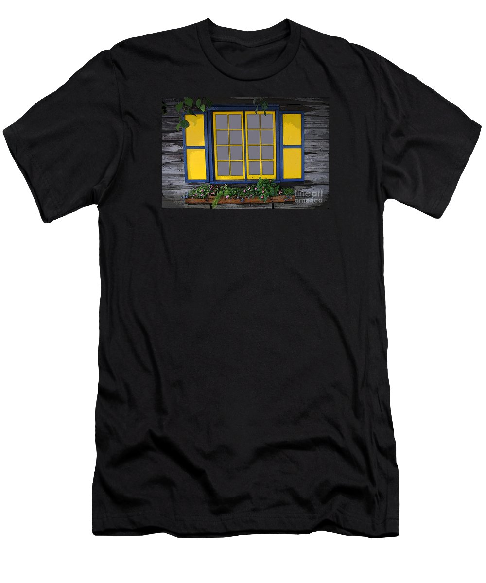 Window Men's T-Shirt (Athletic Fit) featuring the photograph Dutch Window by Jost Houk