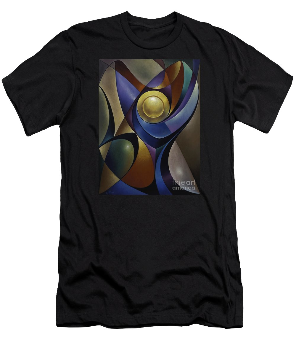 Stained-glass Men's T-Shirt (Athletic Fit) featuring the painting Dynamic Chalice by Ricardo Chavez-Mendez