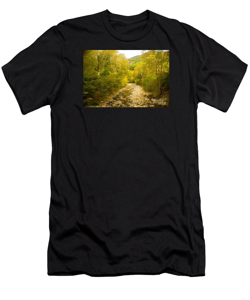 Autumn Men's T-Shirt (Athletic Fit) featuring the photograph Early Autumn On Seneca Creek Wv by Howard Tenke