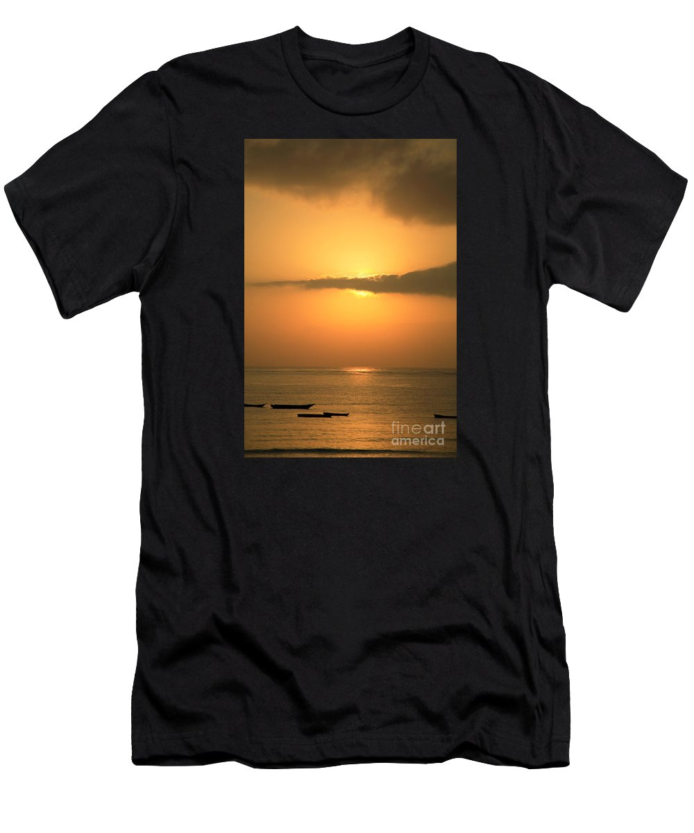 Africa Men's T-Shirt (Athletic Fit) featuring the photograph Early Morning Sunrise by Deborah Benbrook