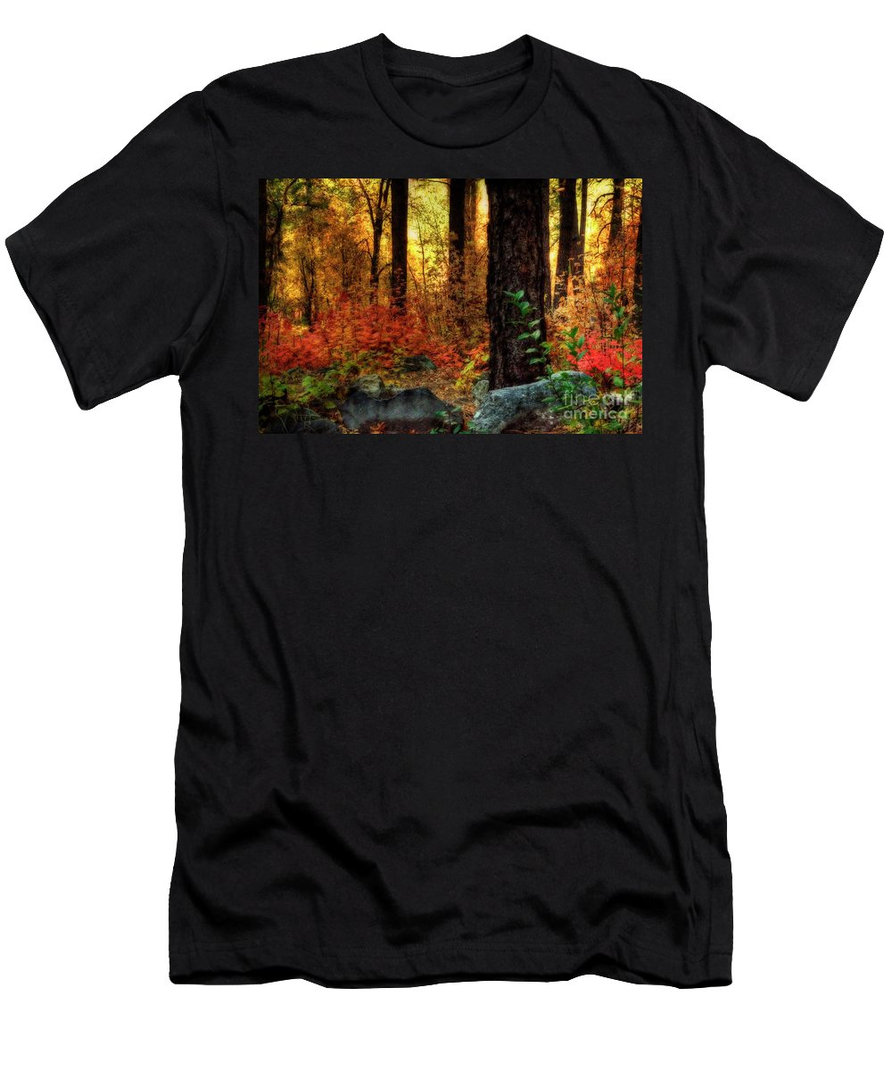 Arizona Men's T-Shirt (Athletic Fit) featuring the photograph Early Morning Walk by Saija Lehtonen