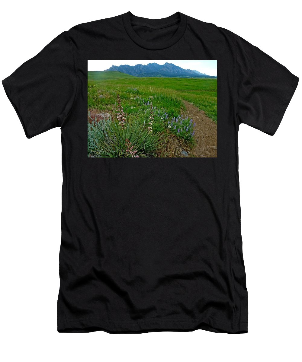 Nature Photography Men's T-Shirt (Athletic Fit) featuring the photograph Early Summer Walk by George Tuffy