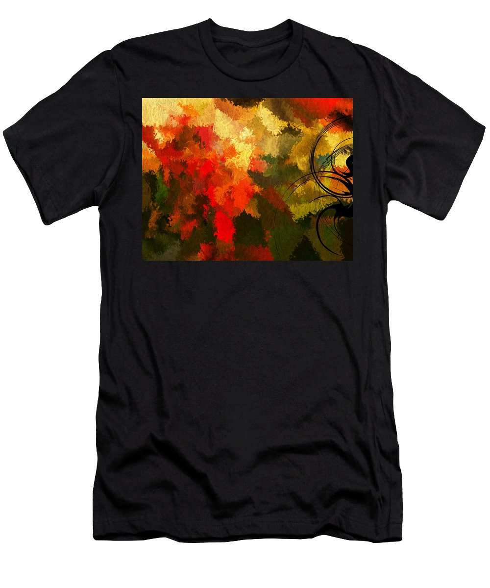 Colors Men's T-Shirt (Athletic Fit) featuring the digital art Earth Shades by Lourry Legarde