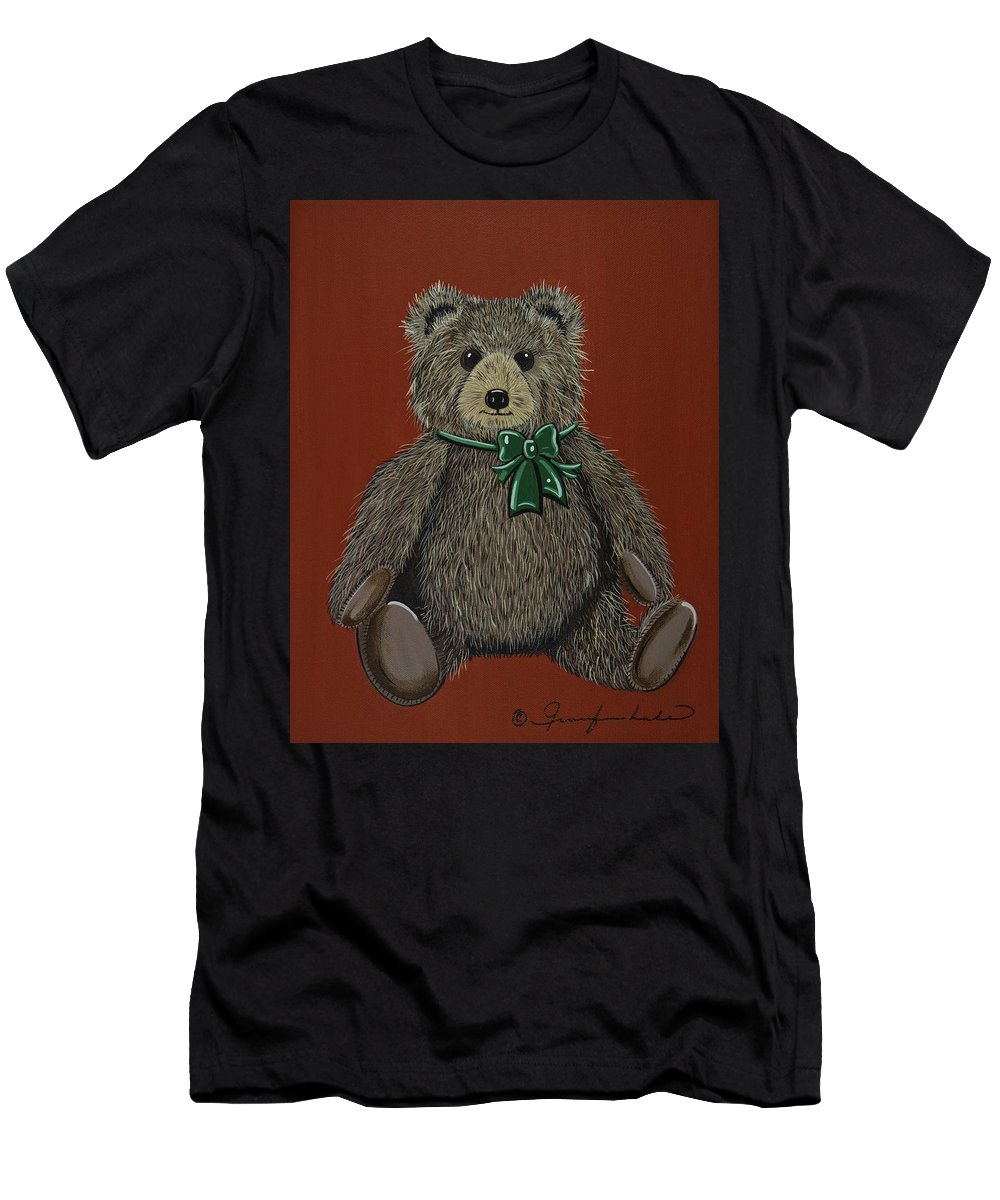 Teddy Bear Men's T-Shirt (Athletic Fit) featuring the painting Easton's Teddy by Jennifer Lake