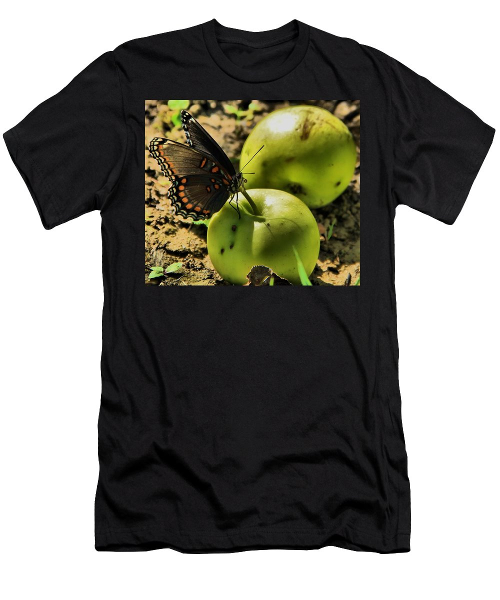 Butterfly Photograph Men's T-Shirt (Athletic Fit) featuring the photograph Eat Healthy by Dan Sproul