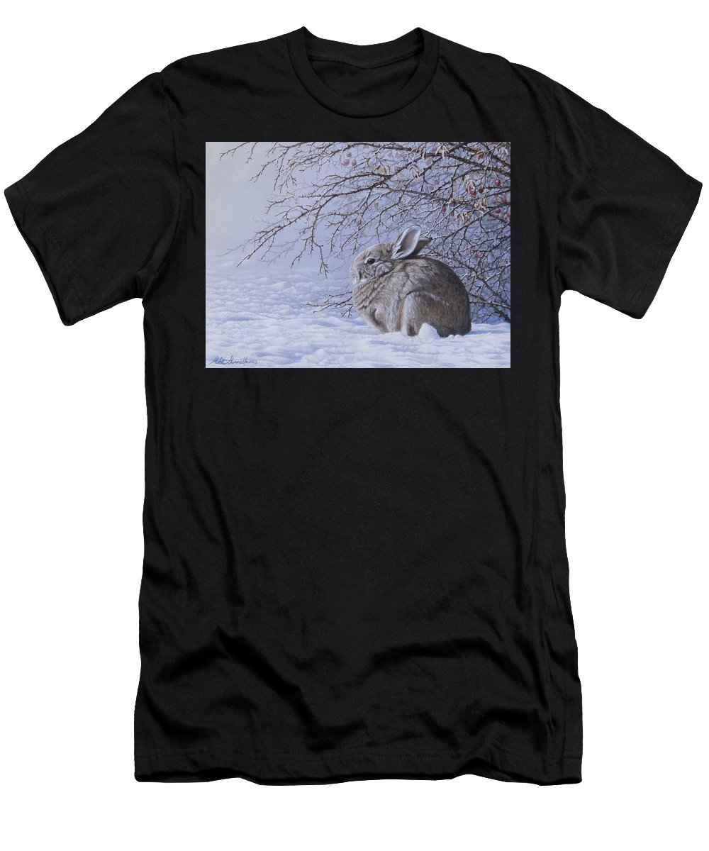 Rosebush Men's T-Shirt (Athletic Fit) featuring the painting Edge Of The Briars by Mike Stinnett