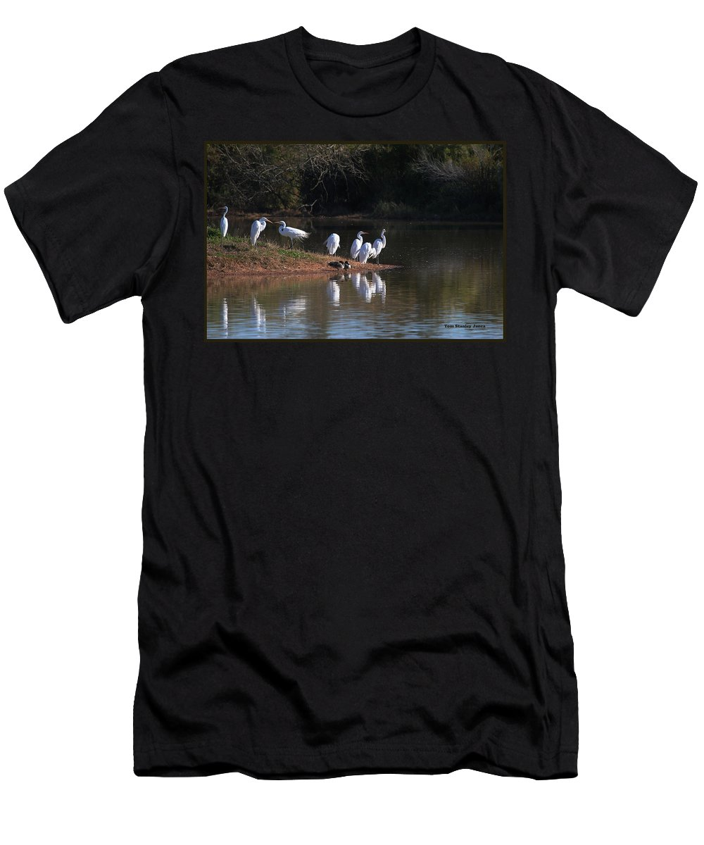 Egret Point Men's T-Shirt (Athletic Fit) featuring the photograph Egret Point by Tom Janca