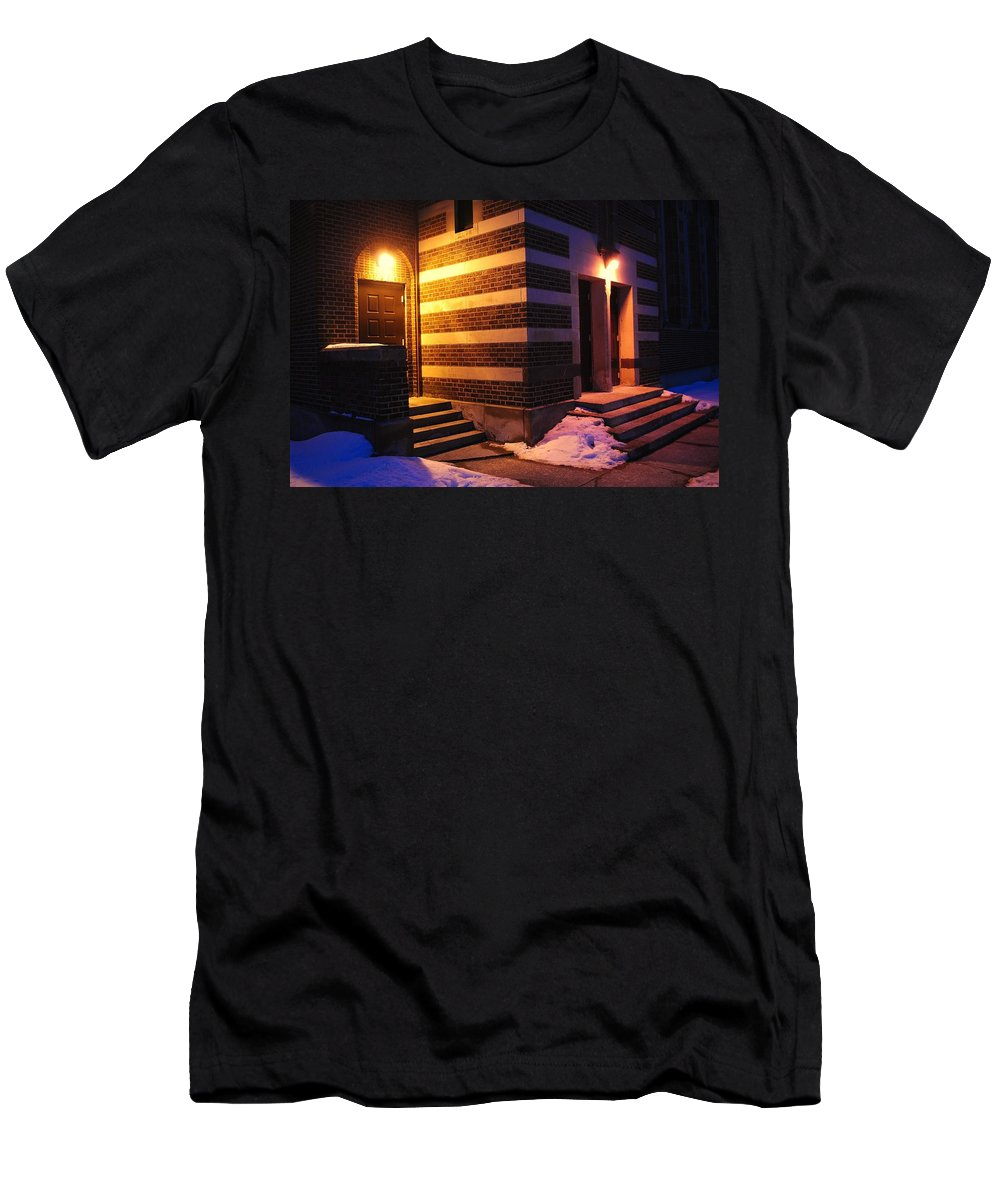 Egyptian Men's T-Shirt (Athletic Fit) featuring the photograph Egyptian Entrance by Frozen in Time Fine Art Photography