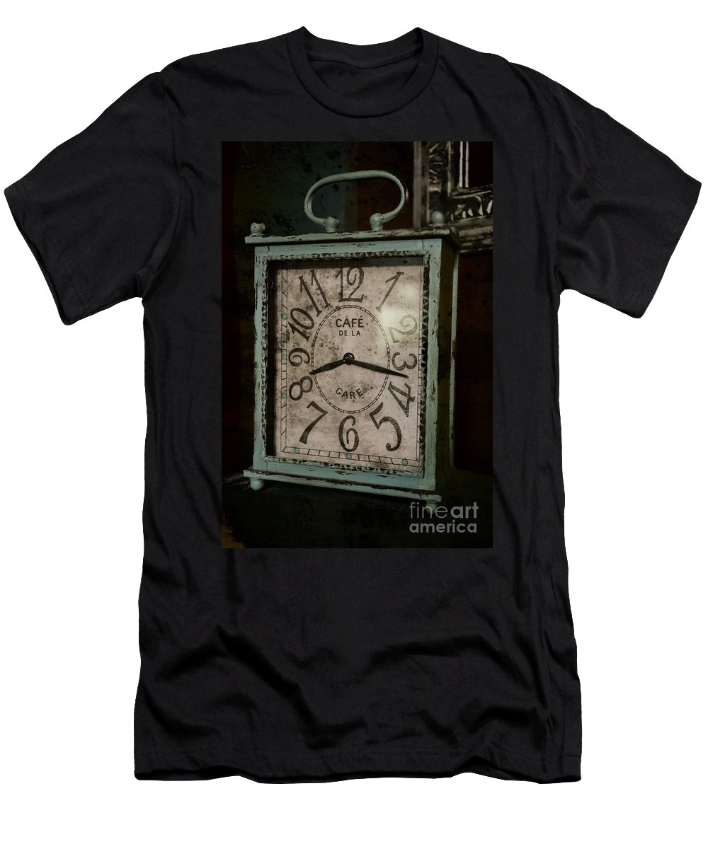 Time Men's T-Shirt (Athletic Fit) featuring the photograph Eight Seventeen by Kim Henderson