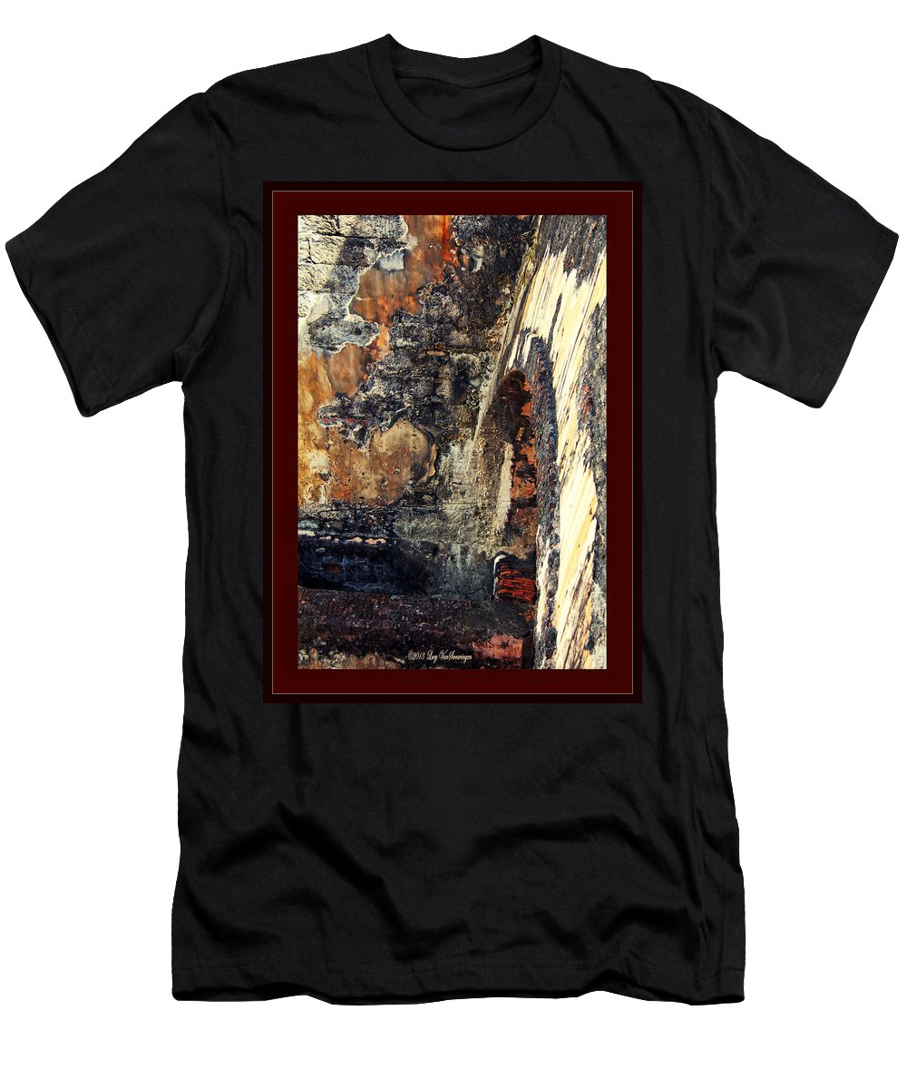 El Morro T-Shirt featuring the photograph El Morro Arch with border by Lucy VanSwearingen