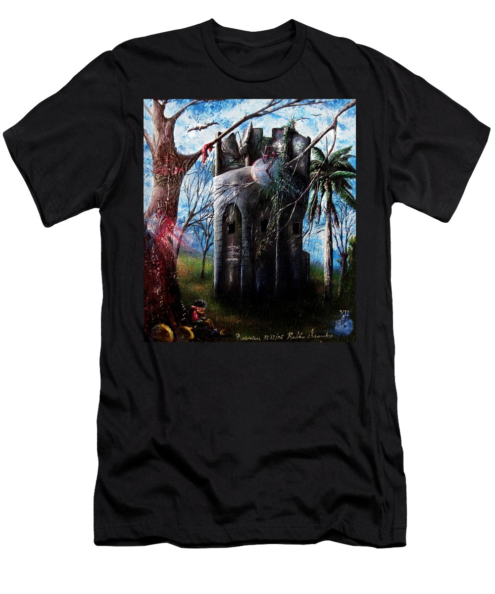 Cuba Men's T-Shirt (Athletic Fit) featuring the painting El Torreon by Ruben Santos