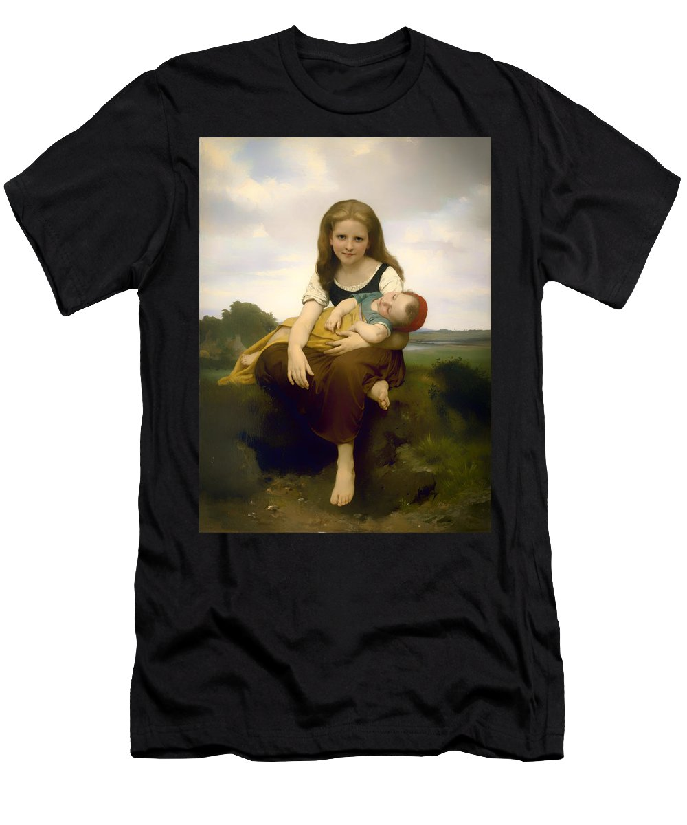 Painting Men's T-Shirt (Athletic Fit) featuring the painting Elder Sister by Mountain Dreams