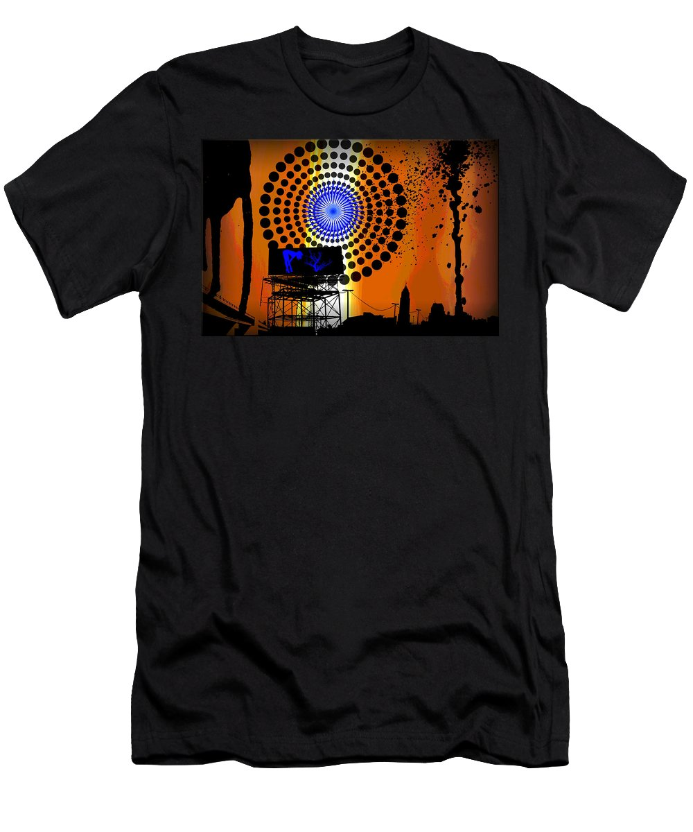 Electric Men's T-Shirt (Athletic Fit) featuring the digital art Electric Avenue by Michael Damiani