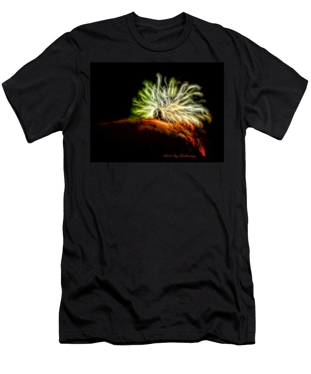 Caterpillar T-Shirt featuring the photograph Electric Caterpillar by Lucy VanSwearingen