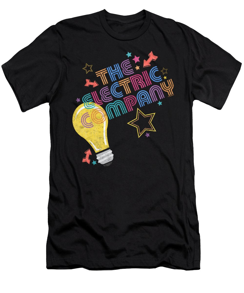 T-Shirt featuring the digital art Electric Company - Electric Light by Brand A