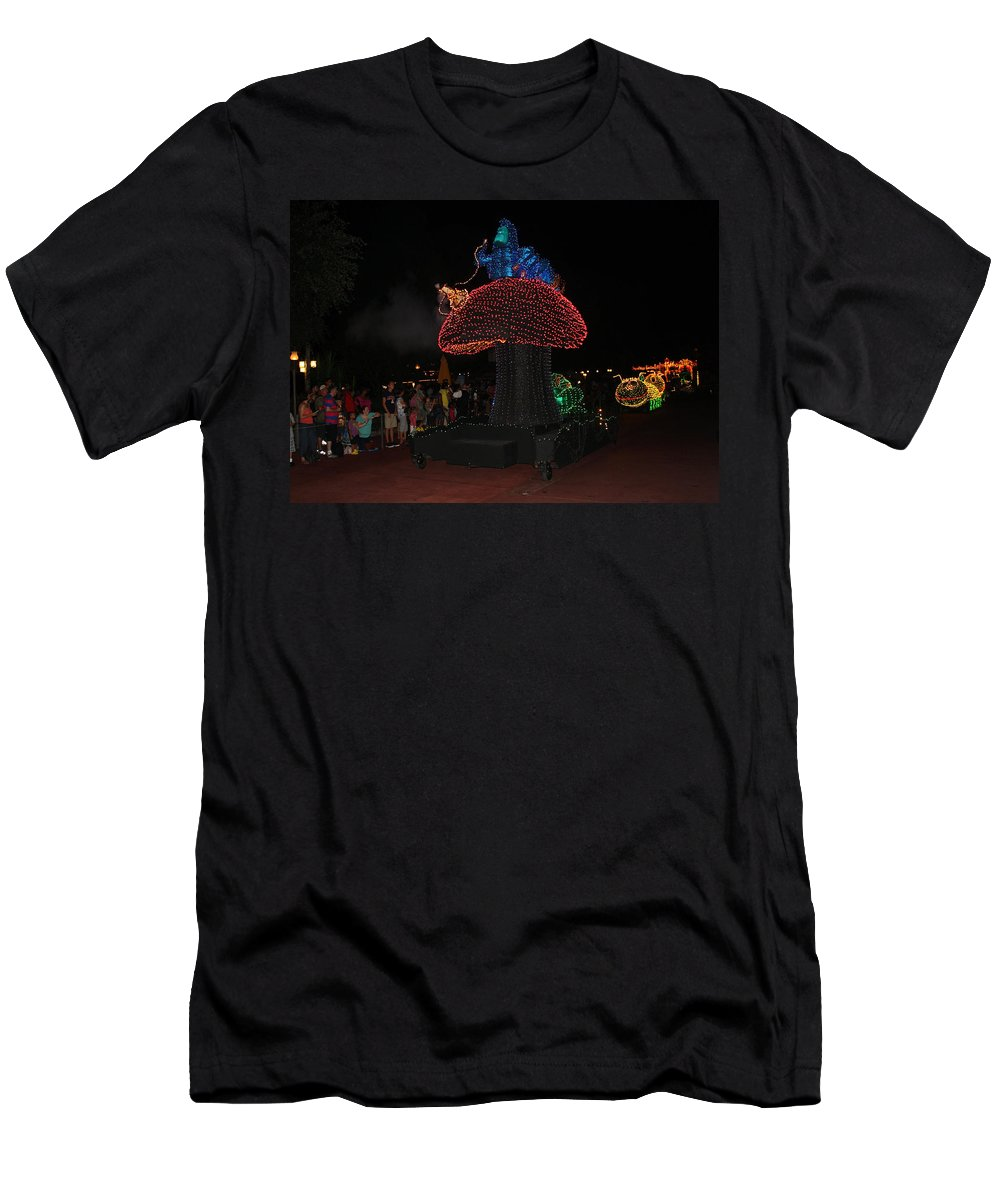 Disney World Men's T-Shirt (Athletic Fit) featuring the photograph Electric Disney by David Nicholls