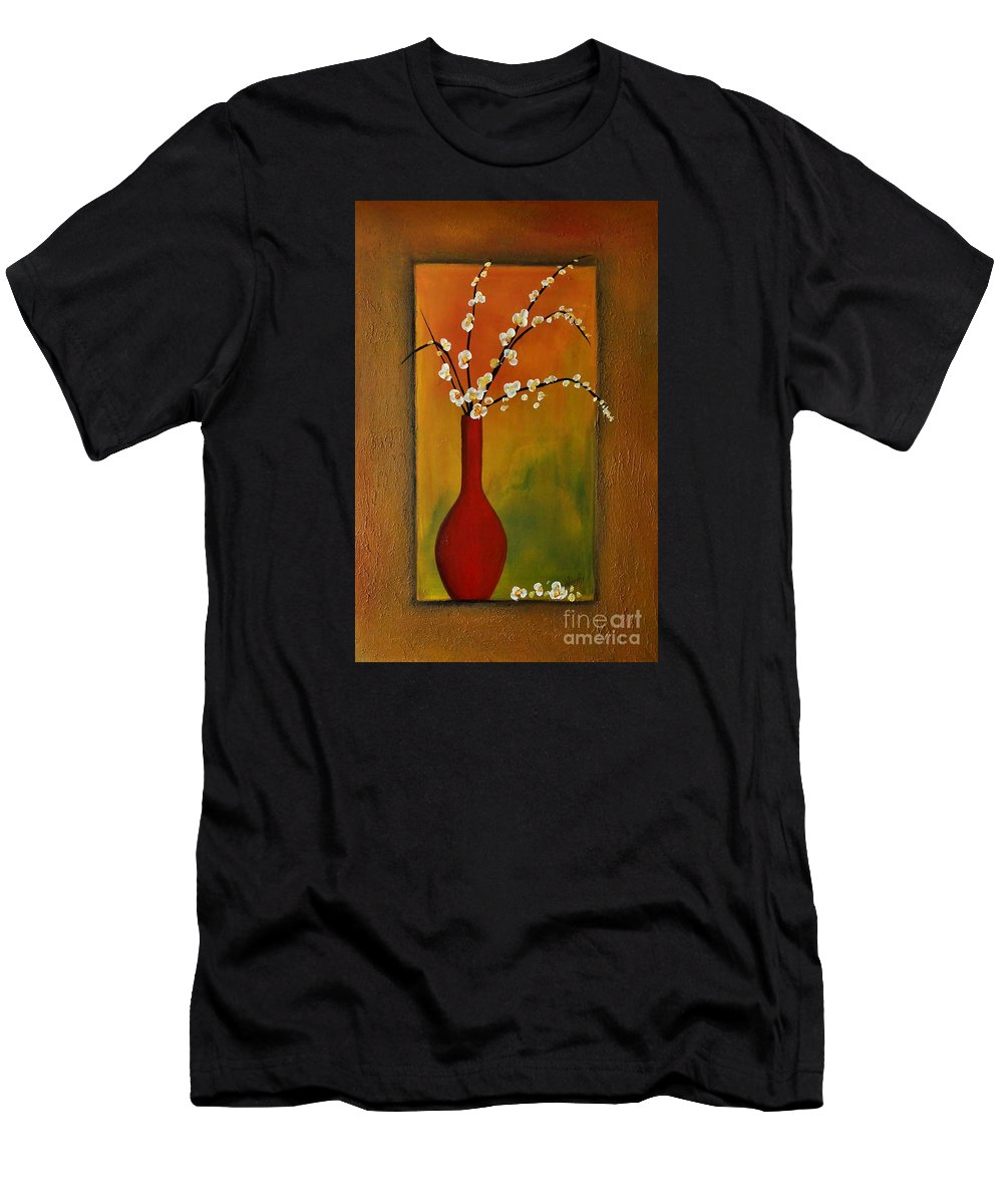 Flowers Men's T-Shirt (Athletic Fit) featuring the painting Elegant Bouquet by Preethi Mathialagan