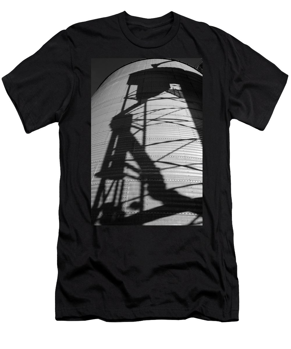 Silo Men's T-Shirt (Athletic Fit) featuring the photograph Elevator Shadow by Paul DeRocker