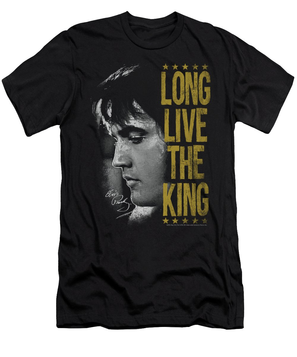 Elvis T-Shirt featuring the digital art Elvis - Long Live The King by Brand A