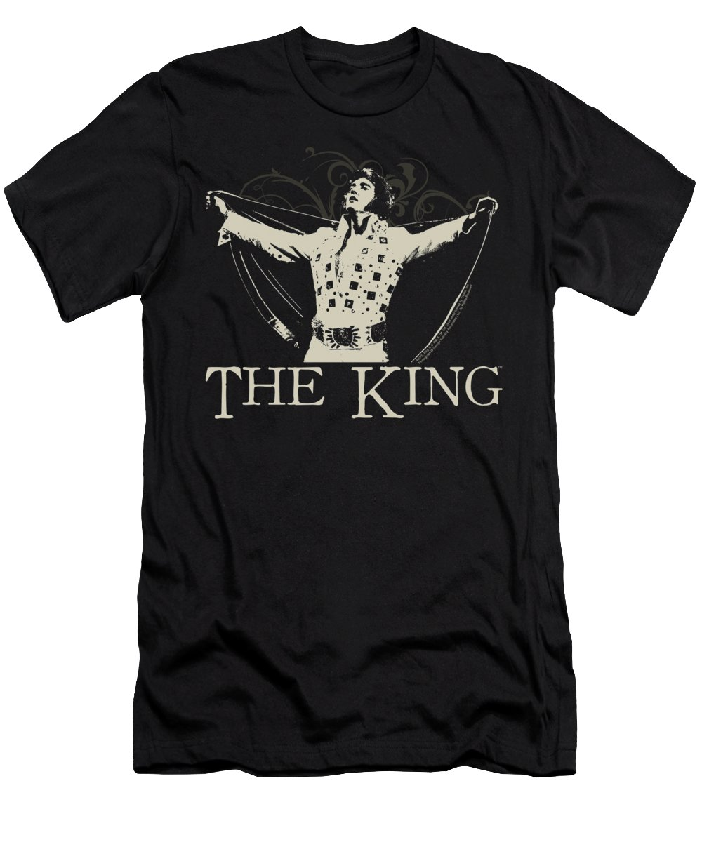 Elvis T-Shirt featuring the digital art Elvis - Ornate King by Brand A