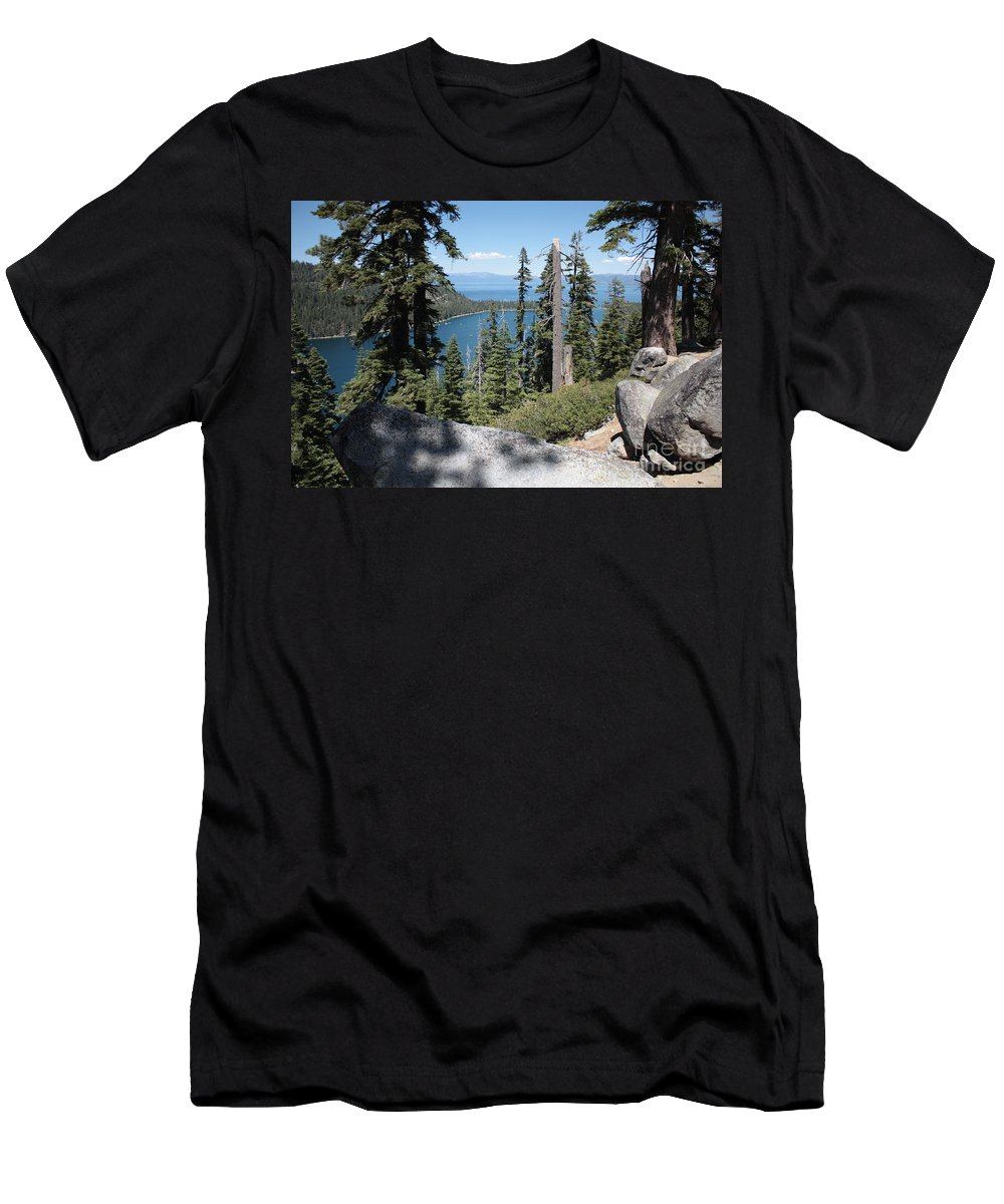 Emerald Bay Men's T-Shirt (Athletic Fit) featuring the photograph Emerald Bay Vista by Carol Groenen
