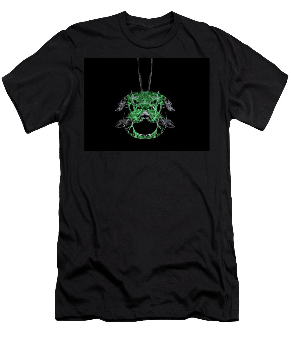 Fractal Men's T-Shirt (Athletic Fit) featuring the painting Emerald Pendant by Bruce Nutting