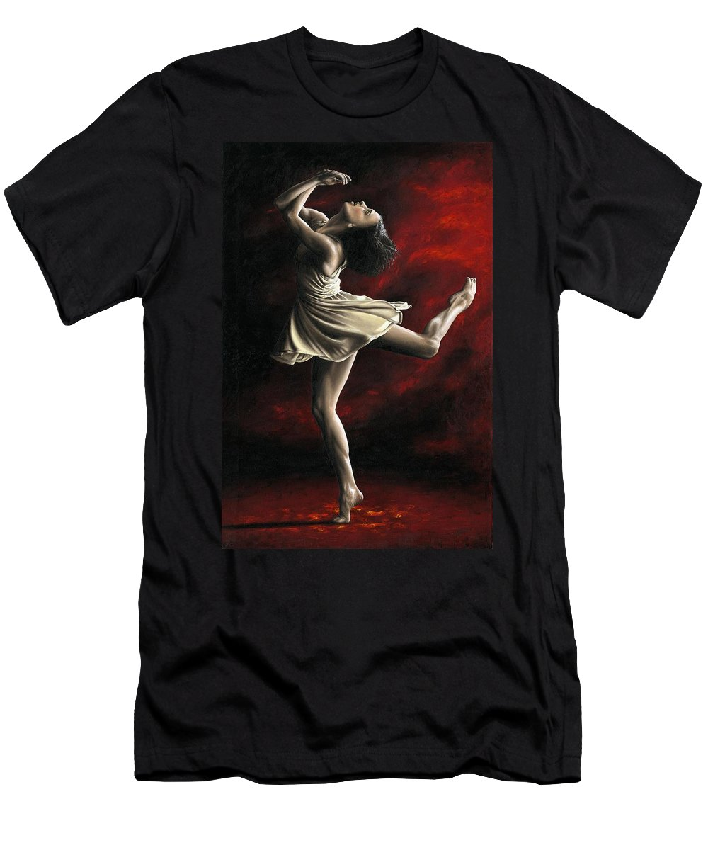 Dance Men's T-Shirt (Athletic Fit) featuring the painting Emotional Awakening by Richard Young