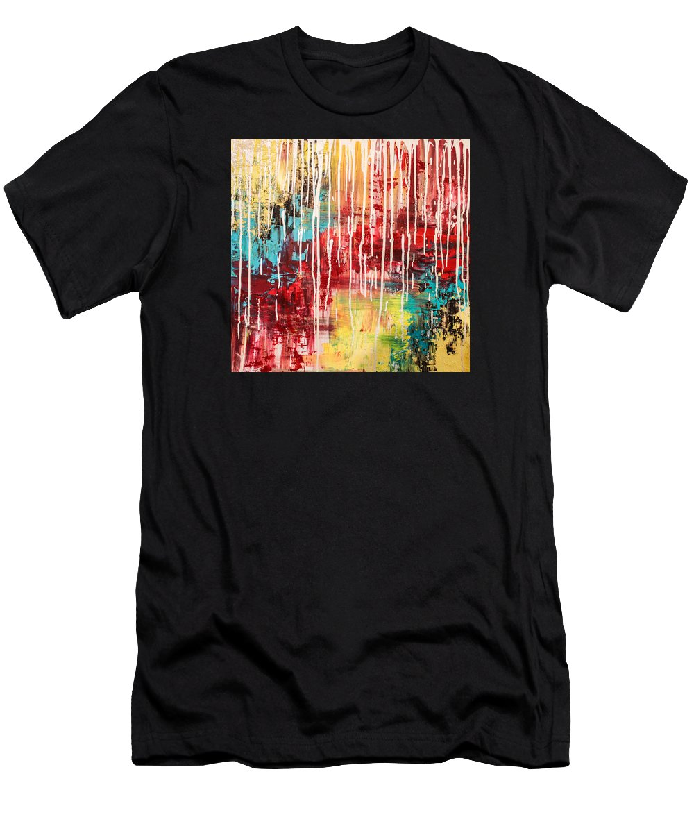 Abstract Men's T-Shirt (Athletic Fit) featuring the photograph Empowering Emotion by Reese Wallace