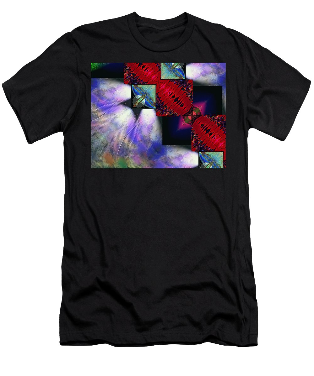 Empty Men's T-Shirt (Athletic Fit) featuring the digital art Empty Hearted Sky by Michael Damiani