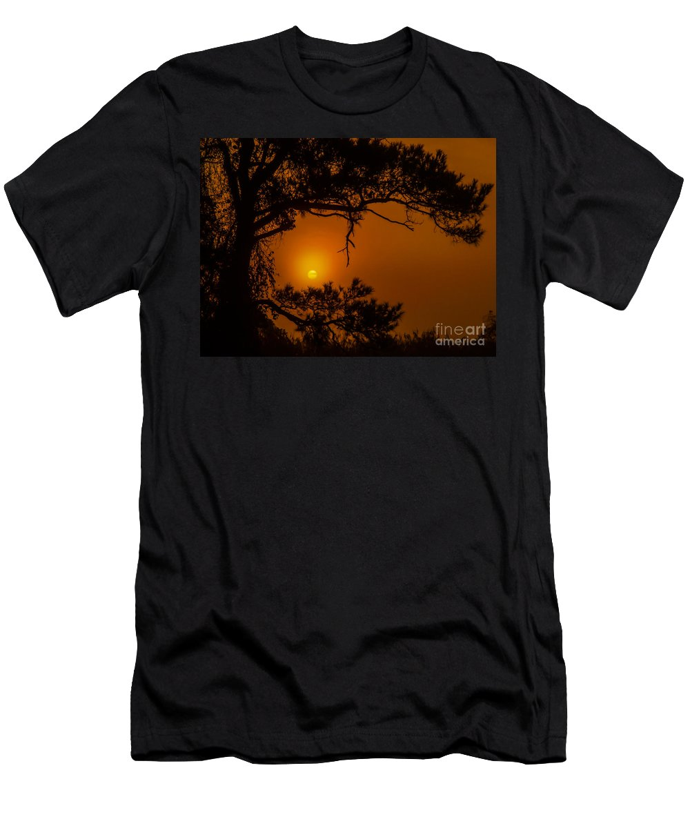Lake Men's T-Shirt (Athletic Fit) featuring the photograph Enchanted Morning by Scott Hervieux