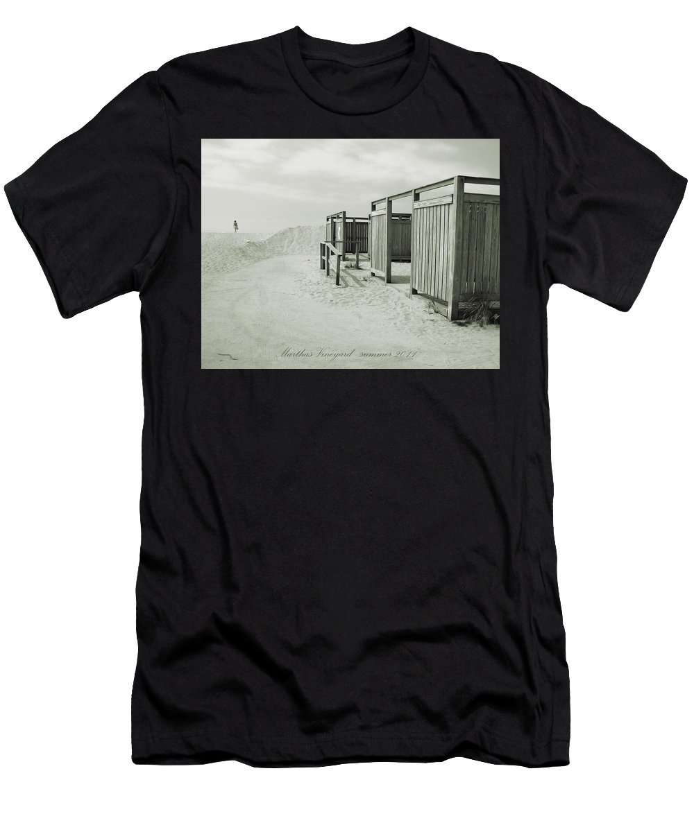 Beach Men's T-Shirt (Athletic Fit) featuring the photograph End Of Summer by Christo Christov
